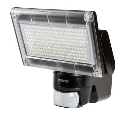 12W LED with PIR Sensor Outdoor Floodlight Black