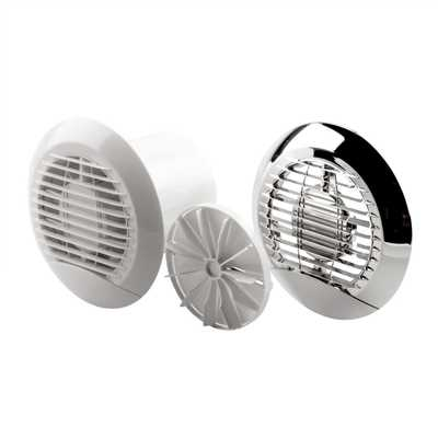 "100mm 4"" Circular Flush Fit Fan with Timer"