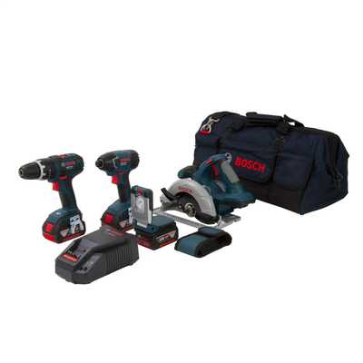 4 Piece Cordless Tool Kit 18V with Bag