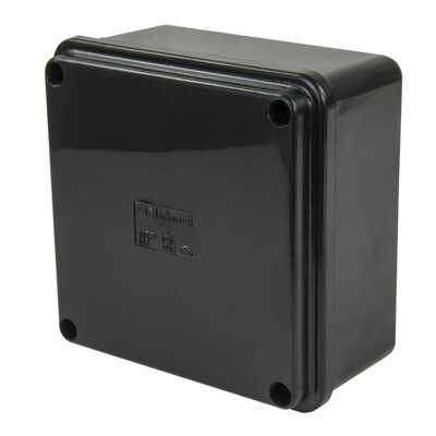 100 x 100 x 50mm PVC Adaptable Box IP66 Black