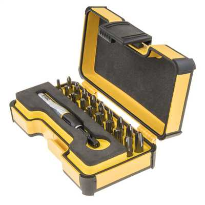 19 Piece Screwdriver Bit Set with Impact Bit Holder