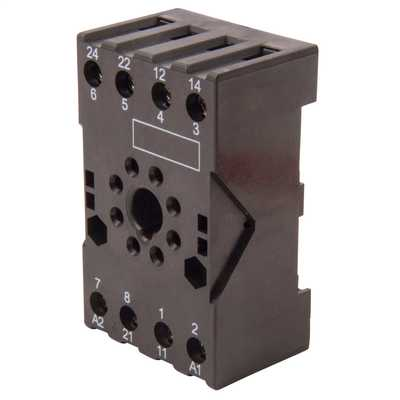 8 Pin Relay Base for JQX10 Model 8 Pin Relays
