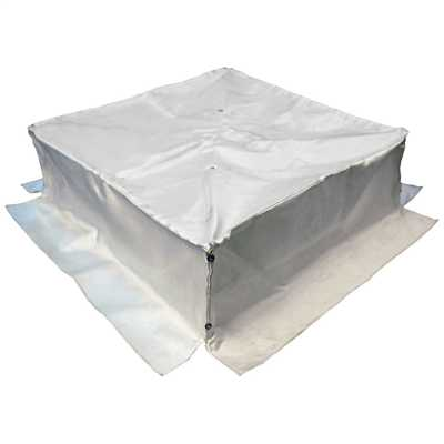 600mm x 600mm x 200mm Intumescent Fire Hood for Modulars