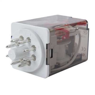 MCG 8 Pin 12V AC 10A 2 Pole Changeover Plug In Relay