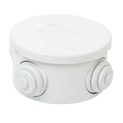 65 x 35mm Round PVC Adaptable Box IP44