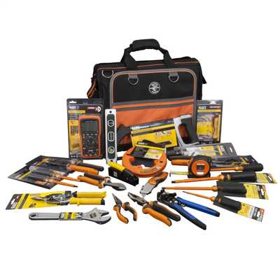 24 Piece Professional Electricians Tool Kit