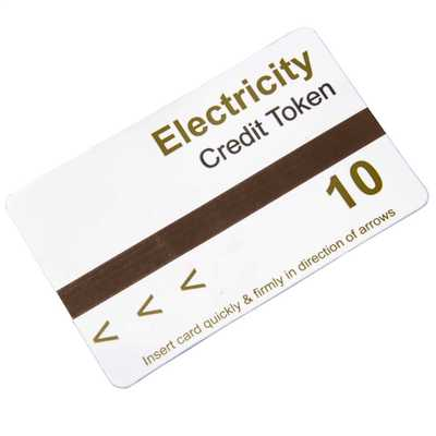 Electricity Meter Card Preloaded with 10 Units