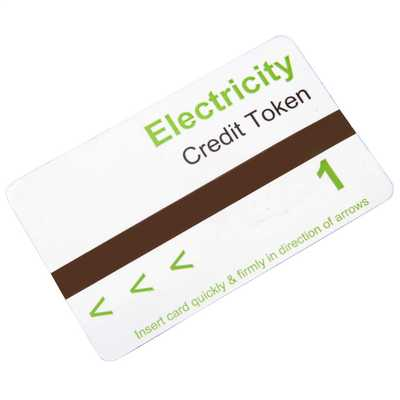 Electricity Meter Card Preloaded with 1 Unit