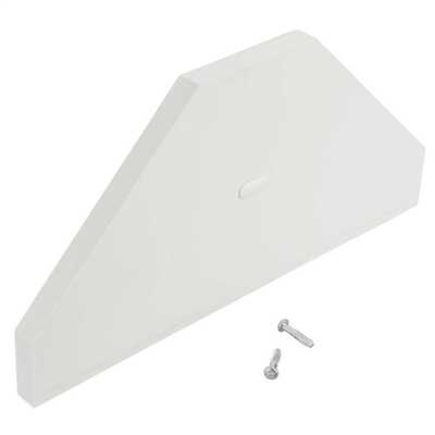 Bench Trunking Dual End Cap White (Sold (Pack of 2)