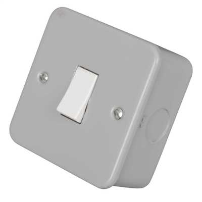 10A 1 Gang 2 Way Light Switch Metal Clad