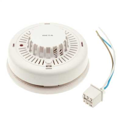 230V Mains Heat Alarm with 9V Battery