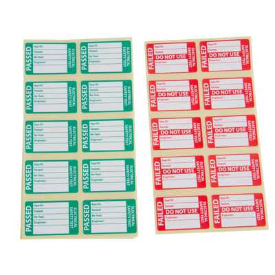 450 Pass and 50 Fail Labels for PAT Testing Combined Pack