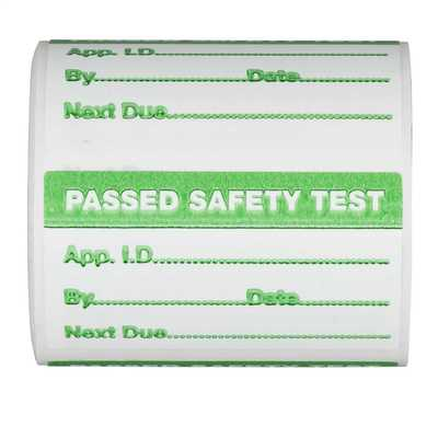 Pass Labels for PAT Testing (Roll of 500)