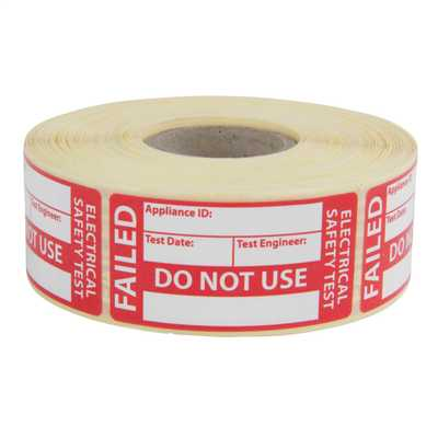 Fail Labels for PAT Testing (Roll of 500)