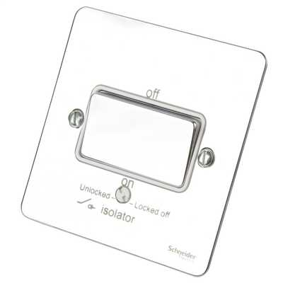 GET Ultimate 16A Triple Pole Fan Isolator Switch White