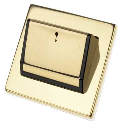 Hotel Key Card Switch Polished Brass with Black Insert
