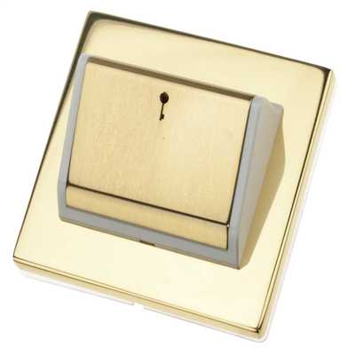 Hotel Key Card Switch Polished Brass with White Insert