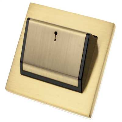 Hotel Key Card Switch Black Insert Satin Brass