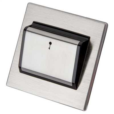 Hotel Key Card Switch Black Insert Stainless Steel