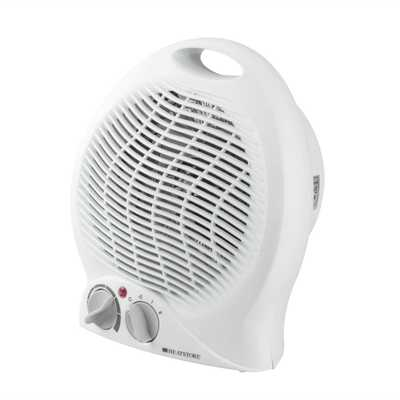 Heatstore 2kw Portable Fan Heater With Thermostat White