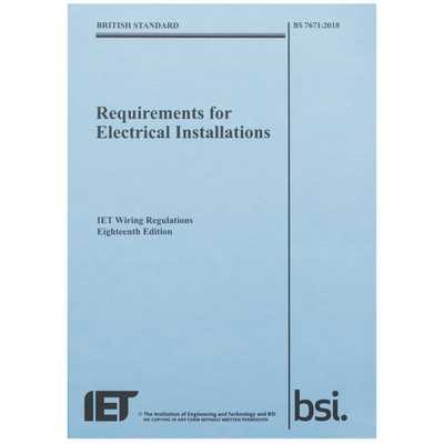 IET Wiring Regulations 18th Edition BS 7671:2018 (PWR1800B ... on