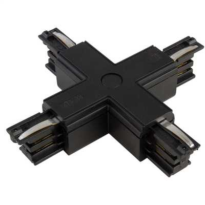 X Connector Black for 3 Circuit Track