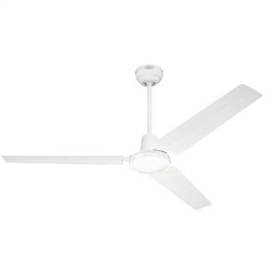 "142cm 56"" Industrial 3 Blade Reversible Ceiling Fan White"
