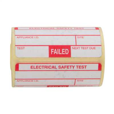 Fail Labels for Portable Appliance Testing