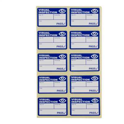 Visual Inspection Labels