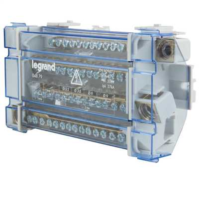 160A 4 Pole 10 Module Distribution Block