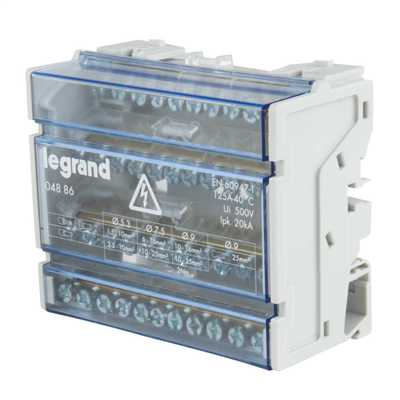 125A 4 Pole 6 Module Distribution Block