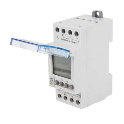 16A Programmable Digital Time Switch Din Rail Mounted