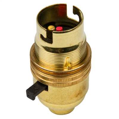 M10 x 1mm Threaded Entry Switched Lampholder (Sold in 1's)