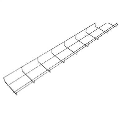30mm x 100mm Steel Wire Basket Cable Tray Zinc (3m Length) | CEF