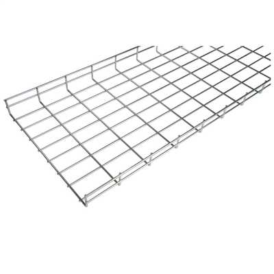 55mm x 400mm Steel Wire Basket Cable Tray Zinc (3m Length) | CEF