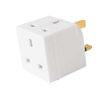 13A 2 Way Unfused Adaptor