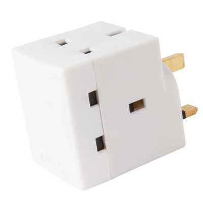 13A 3 Way Fused Adaptor