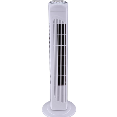 30'' Tower Fan with 2 Hour Timer White