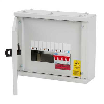 2 Way TP+N Type A Distribution Board c/w 100A Switch Disconnector
