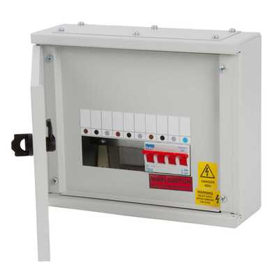 2 Way TP+N Type A Distribution Board with 100A Incomer