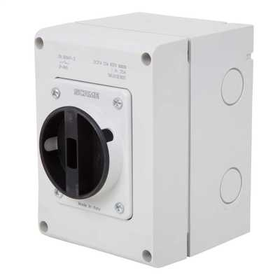 20A 3 Pole 800V DC  Surface Mounting Isolator IP65