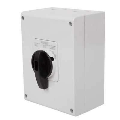 25A 3 Pole 800V DC  Surface Mounting Isolator IP65