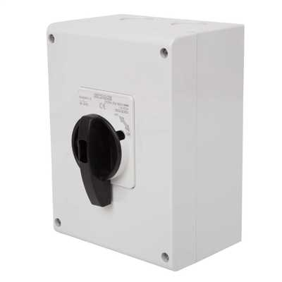 30A 3 Pole 800V DC  Surface Mounting Isolator IP65