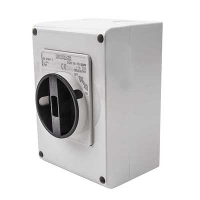 16A 4 Pole 450V DC  Surface Mounting Isolator IP65