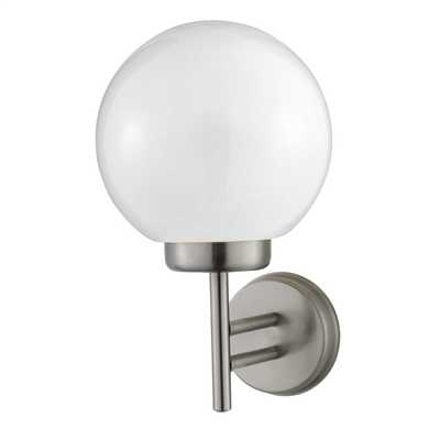House and garden lighting cef globe outdoor wall light stainless steel aloadofball Choice Image