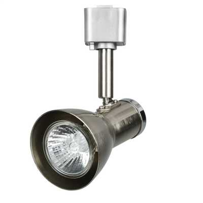 50W GU10 Funnel Head Track Spotlight Satin Silver