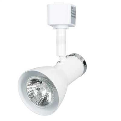 50W GU10 Funnel Head Track Spotlight White