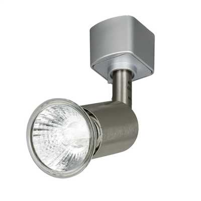50W GU10 Cylindrical Head Track Spotlight Satin Silver