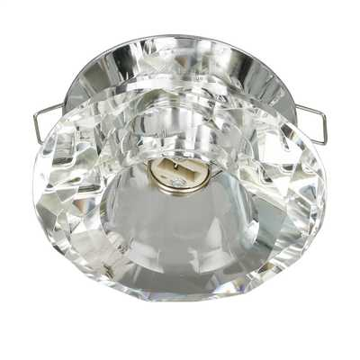 G9 Surface Downlight Chrome with Clear Diamond Shaped Glass