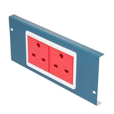 13A 2 x 1 Gang Unswitched Non Standard Socket Cavity Floor Box